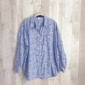 [Anthropologie] Striped Oversized Button Down Top
